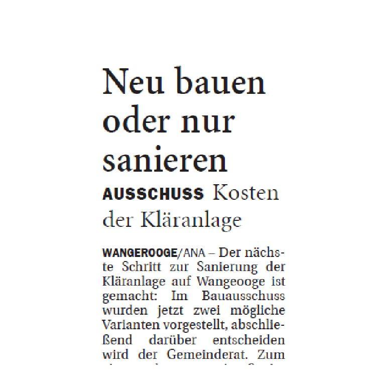 Jeversches Wochenblatt 24.11.2018