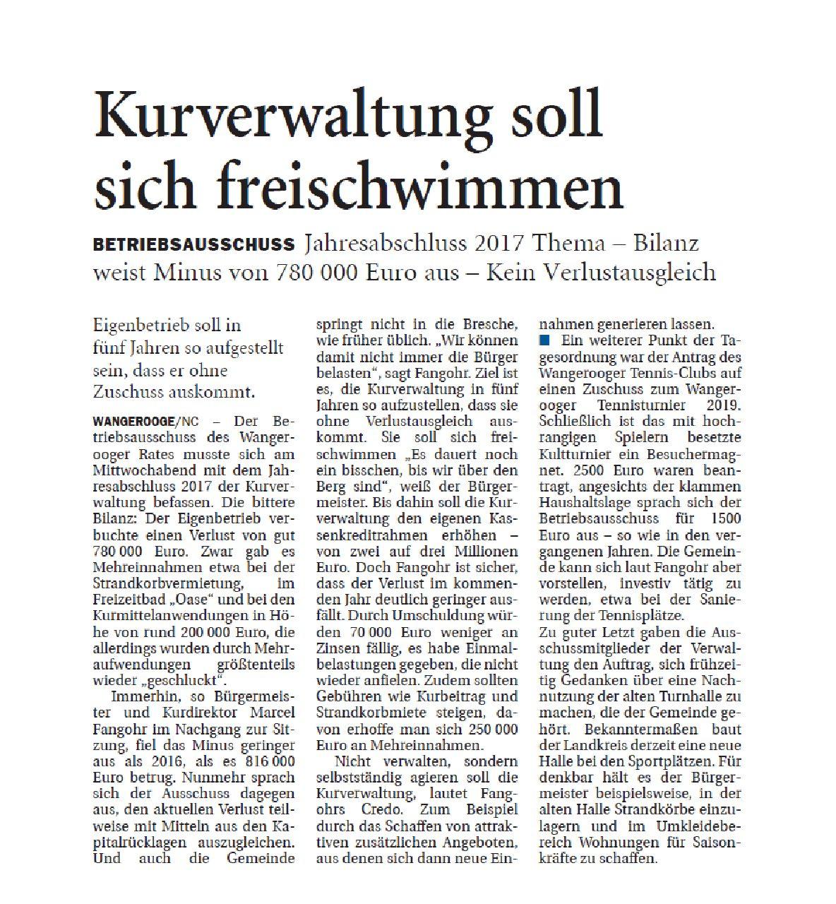Jeversches Wochenblatt 07.12.2018