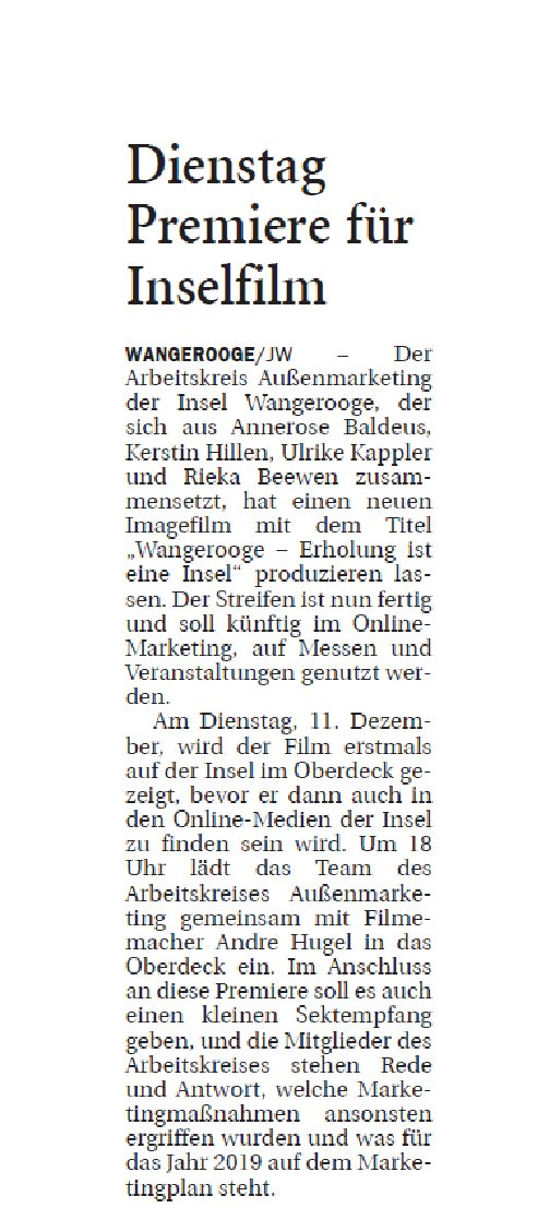 Jeversches Wochenblatt 10.12.2018