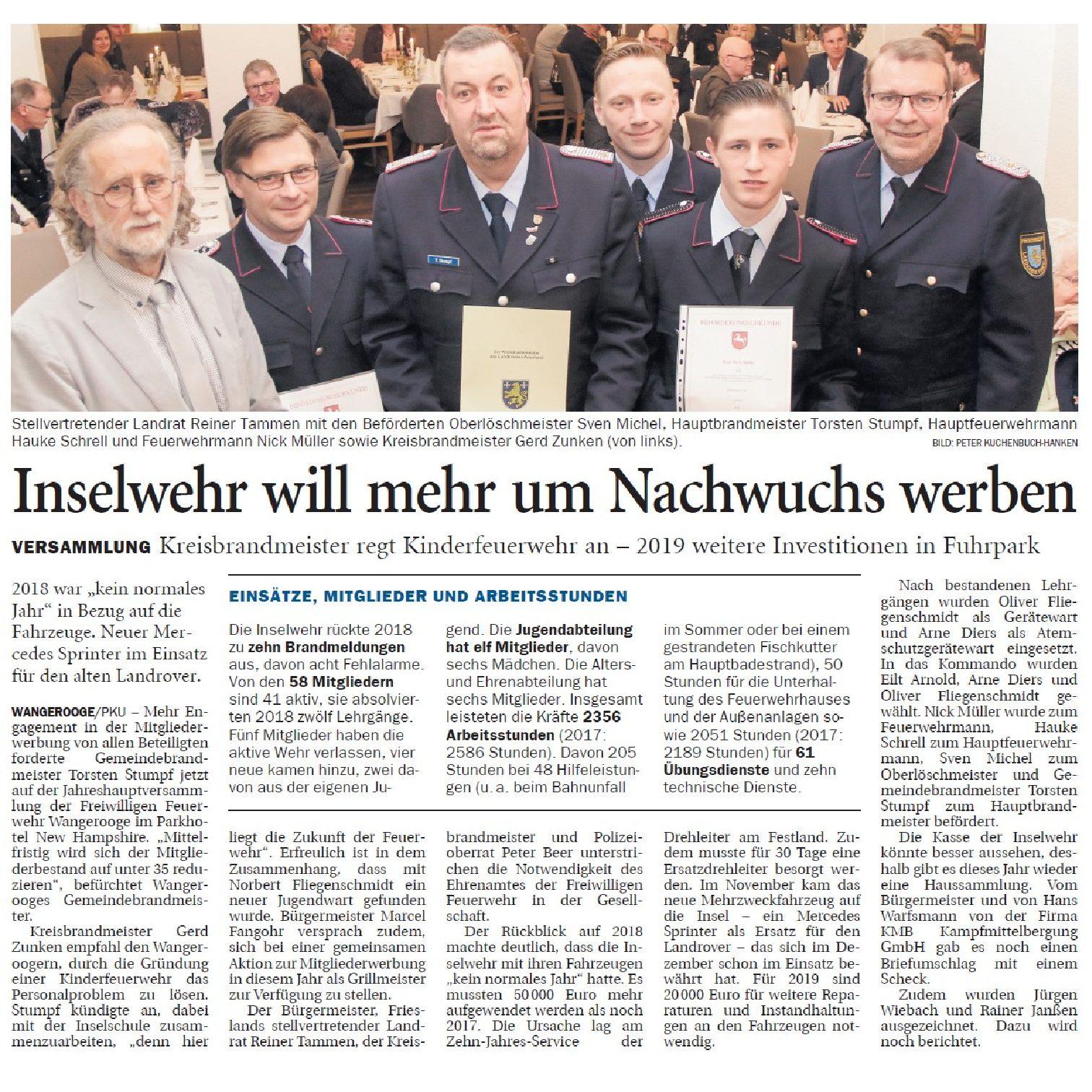 Jeversches Wochenblatt 16.01.2019