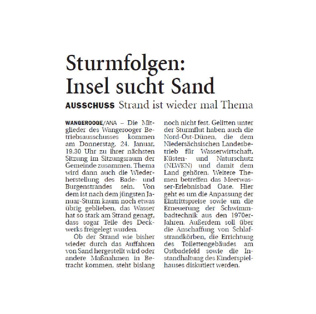 Jeversches Wochenblatt 19.01.2019
