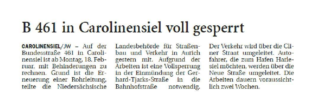 Jeversches Wochenblatt 14.02.2019