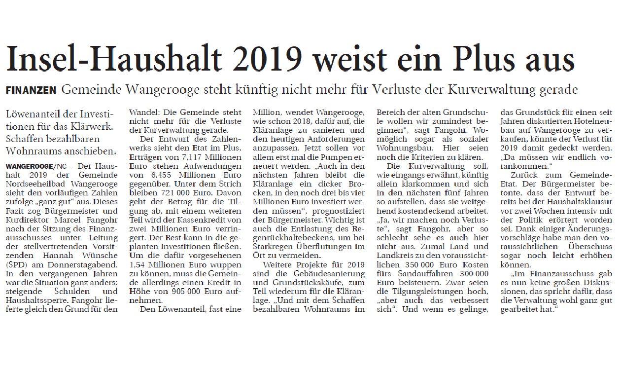 Jeversches Wochenblatt 16.02.2019 II