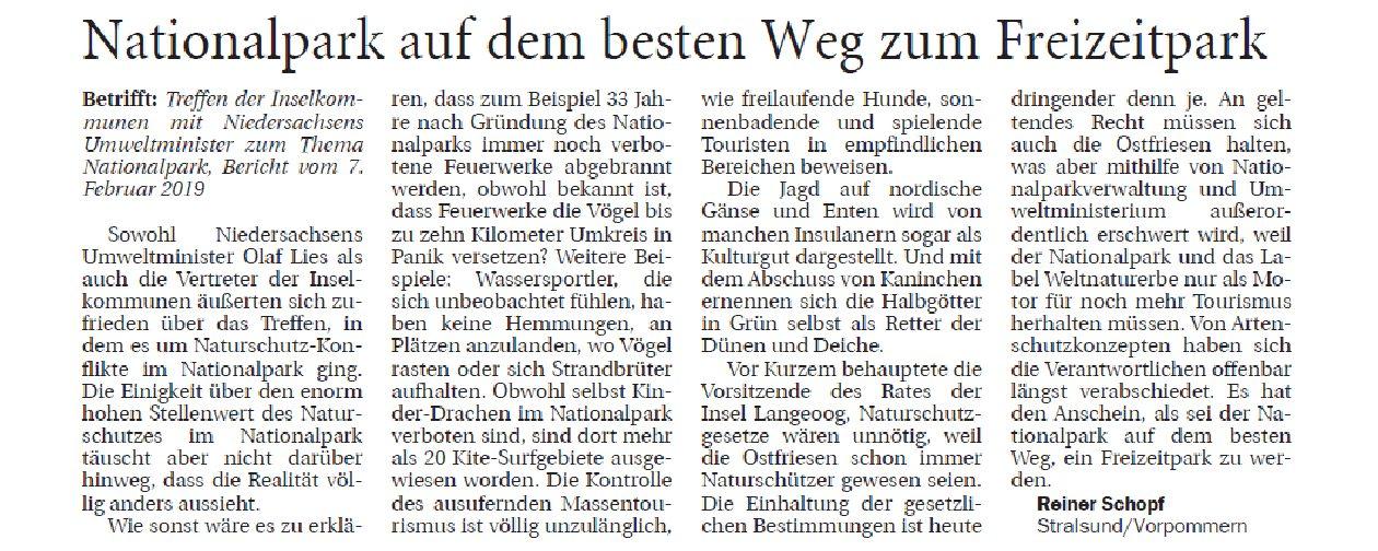 Jeversches Wochenblatt 18.02.2019