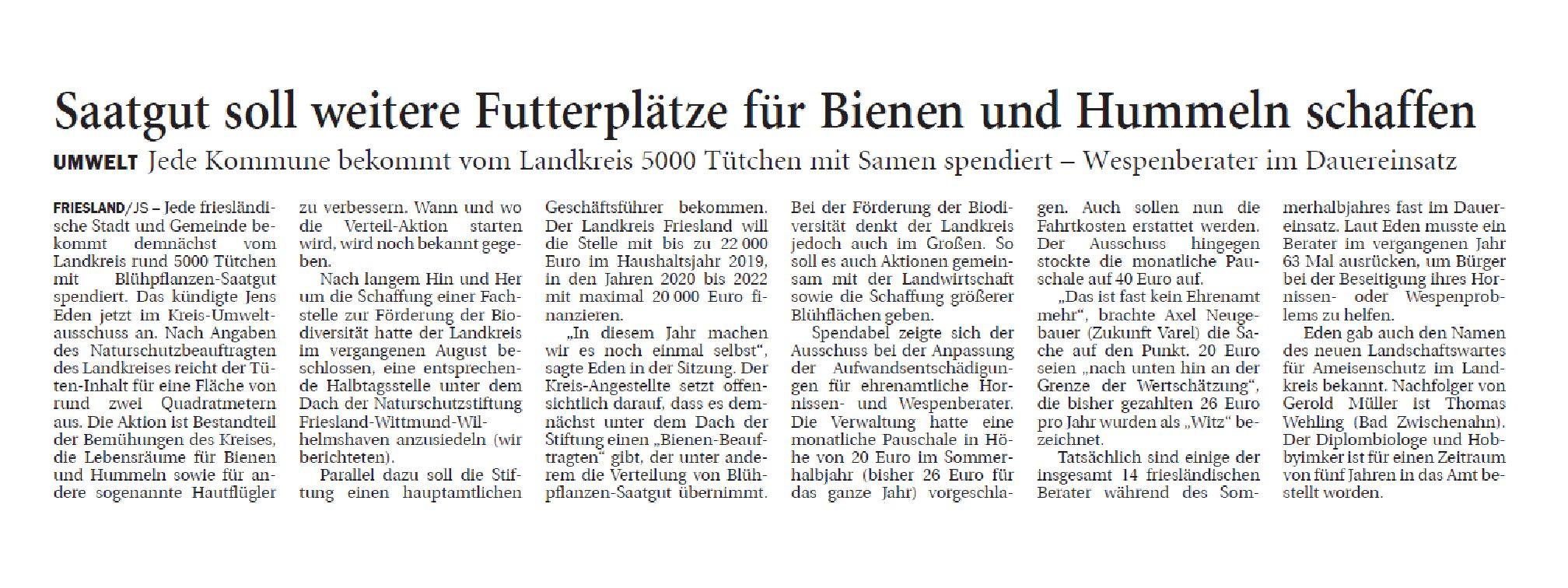 Jeversches Wochenblatt 05.03.2019