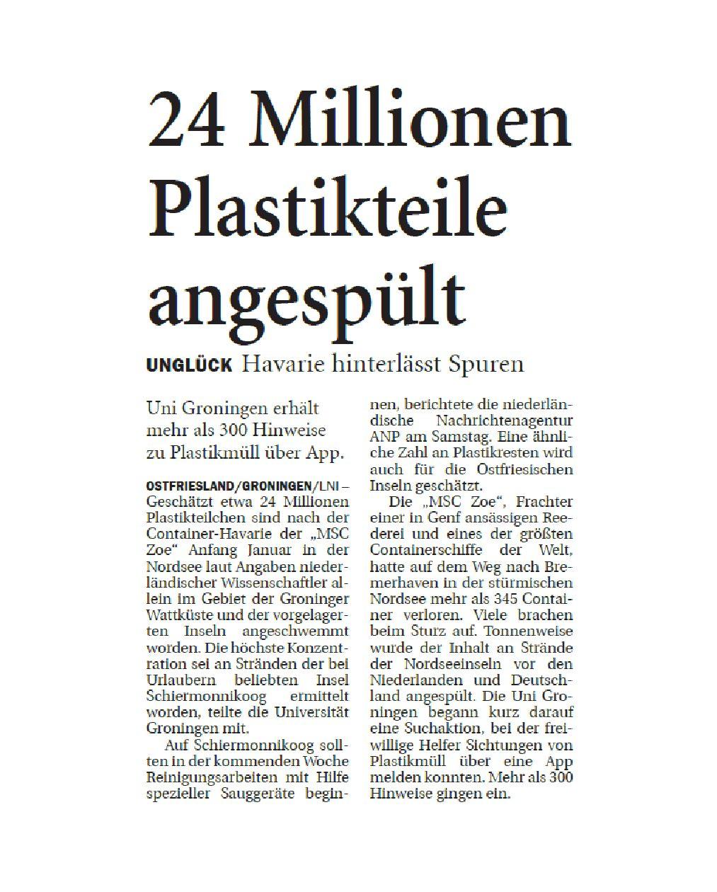 Jeversches Wochenblatt 11.03.2019