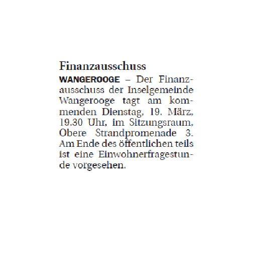 Jeversches Wochenblatt 15.03.2019