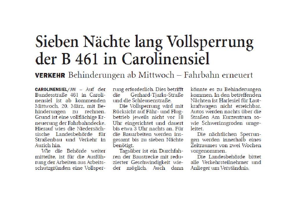 Jeversches Wochenblatt 16.03.2019