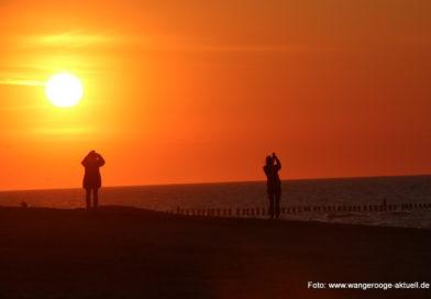 Sonnenuntergänge auf Wangerooge können so schön sein