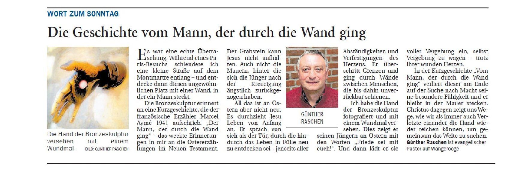 Jeversches Wochenblatt 20.04.2019