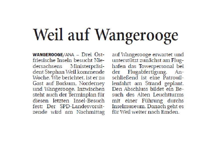 Jeversches Wochenblatt 09.08.2019