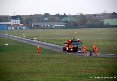 Sanierung der Start- und Landebahn des Wangerooger Flugplatzes hat begonnen