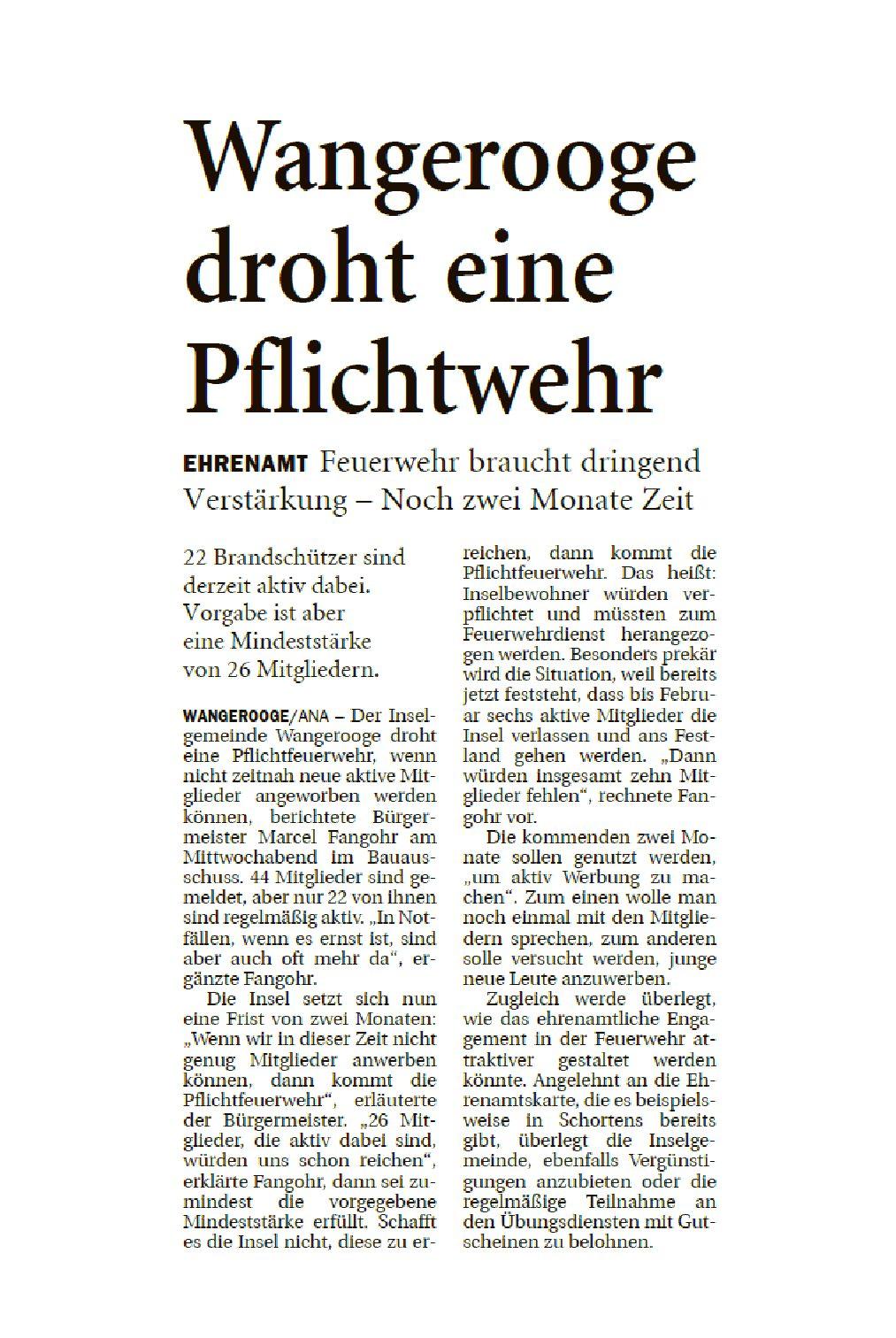 Jeversches Wochenblatt 18.10.2019