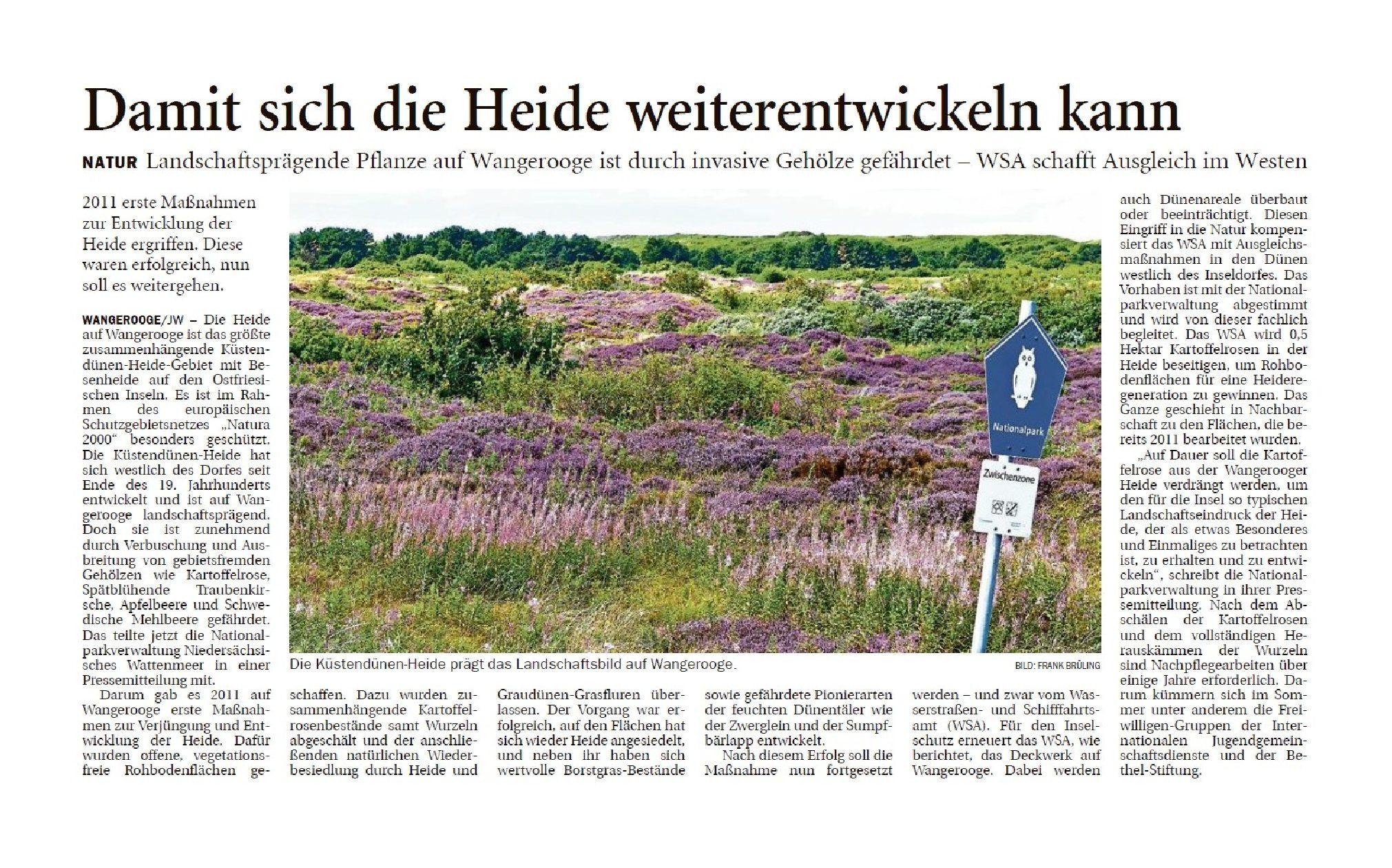 Jeversches Wochenblatt 19.11.2019