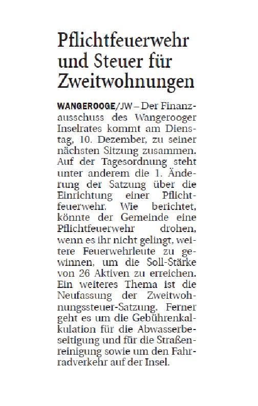 Jeversches Wochenblatt 05.12.2019