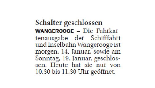 Jeversches Wochenblatt 13.01.2020 III