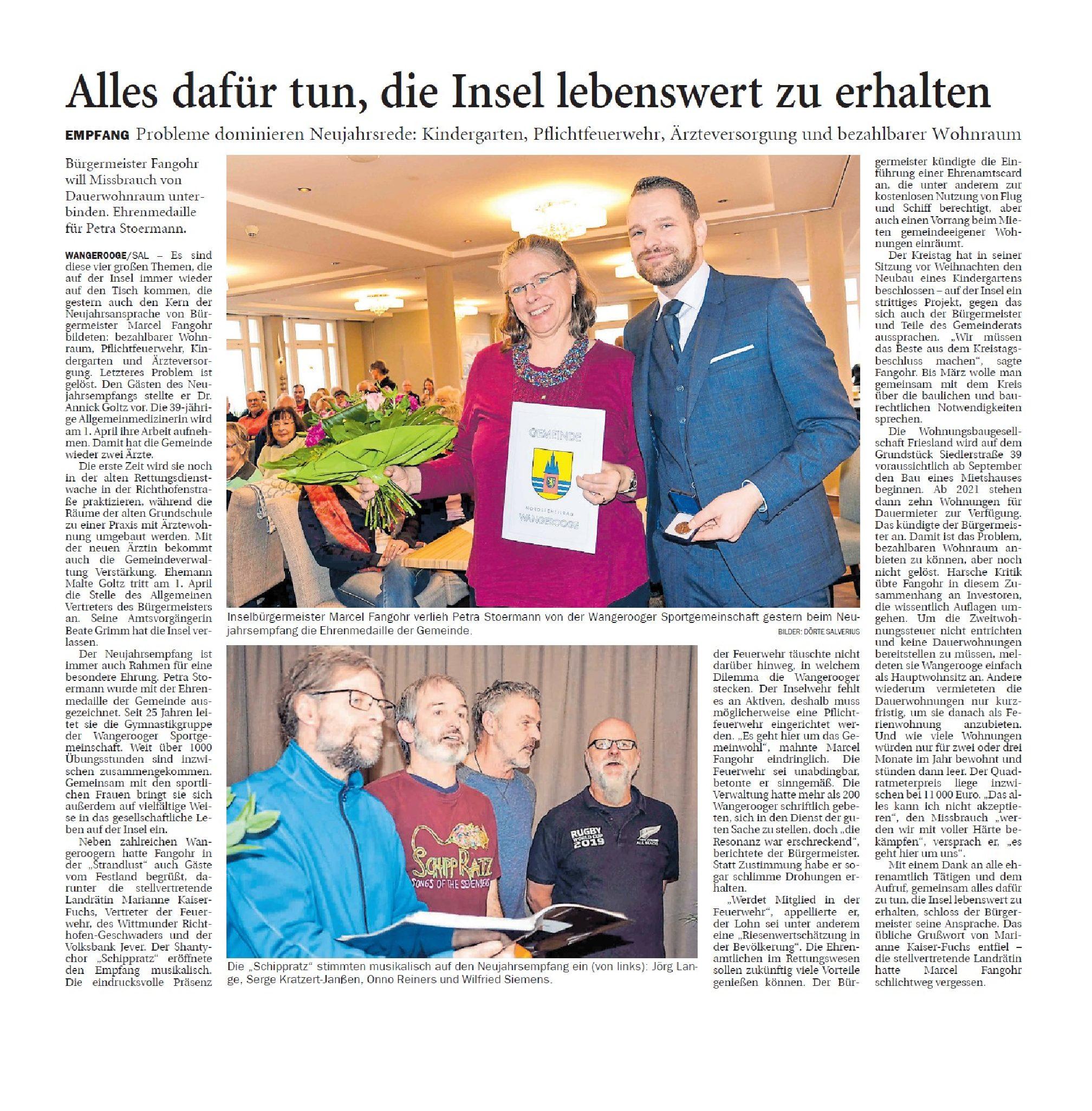 Jeversches Wochenblatt 13.01.2020