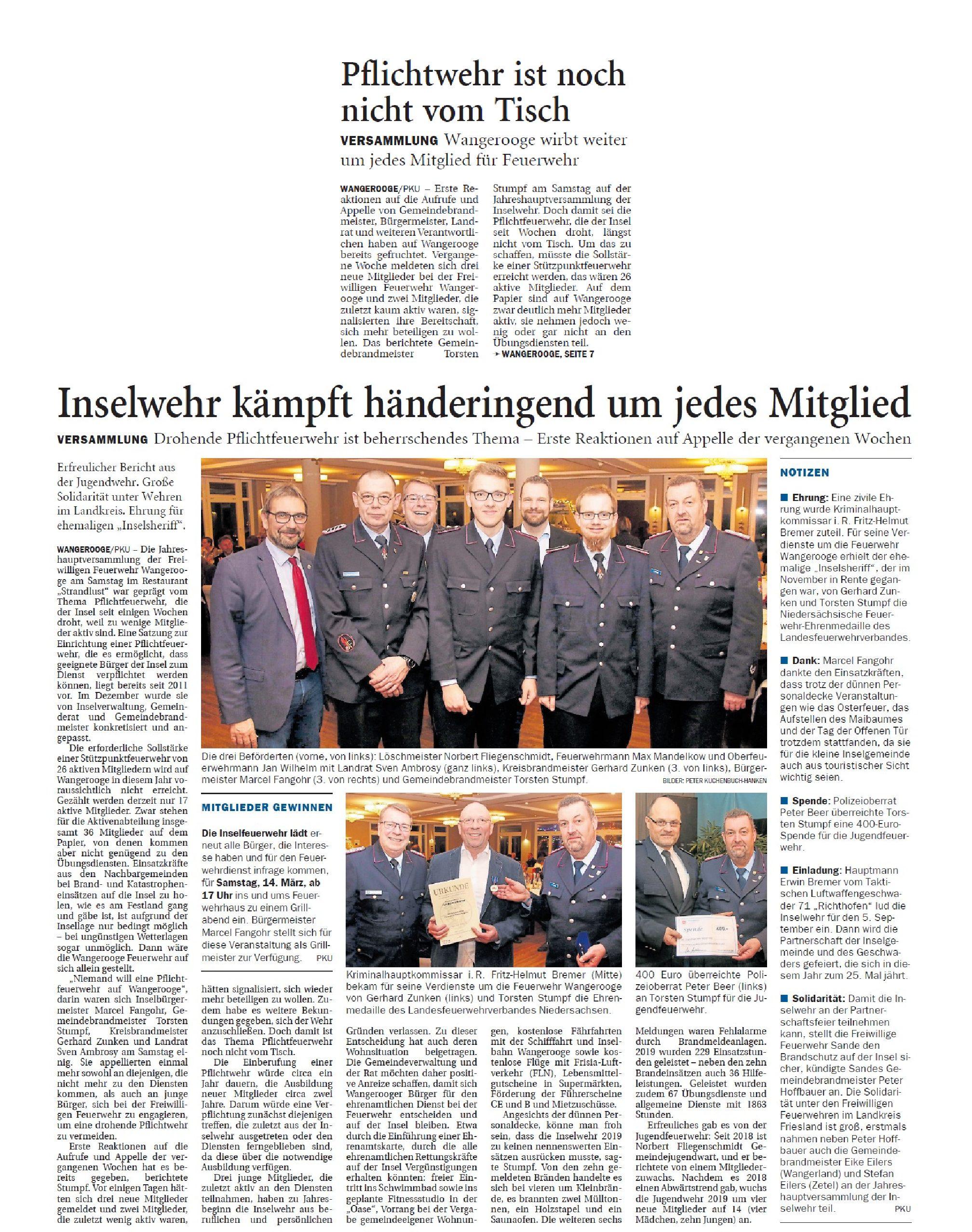 Jeversches Wochenblatt 14.01.2020