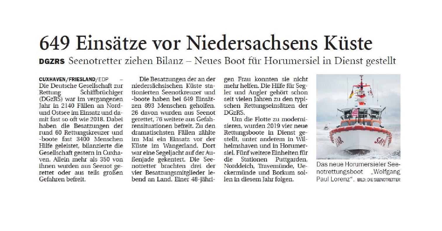 Jeversches Wochenblatt 15.01.2020