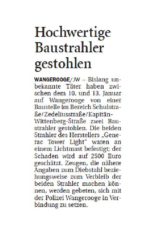 Jeversches Wochenblatt 16.01.2020