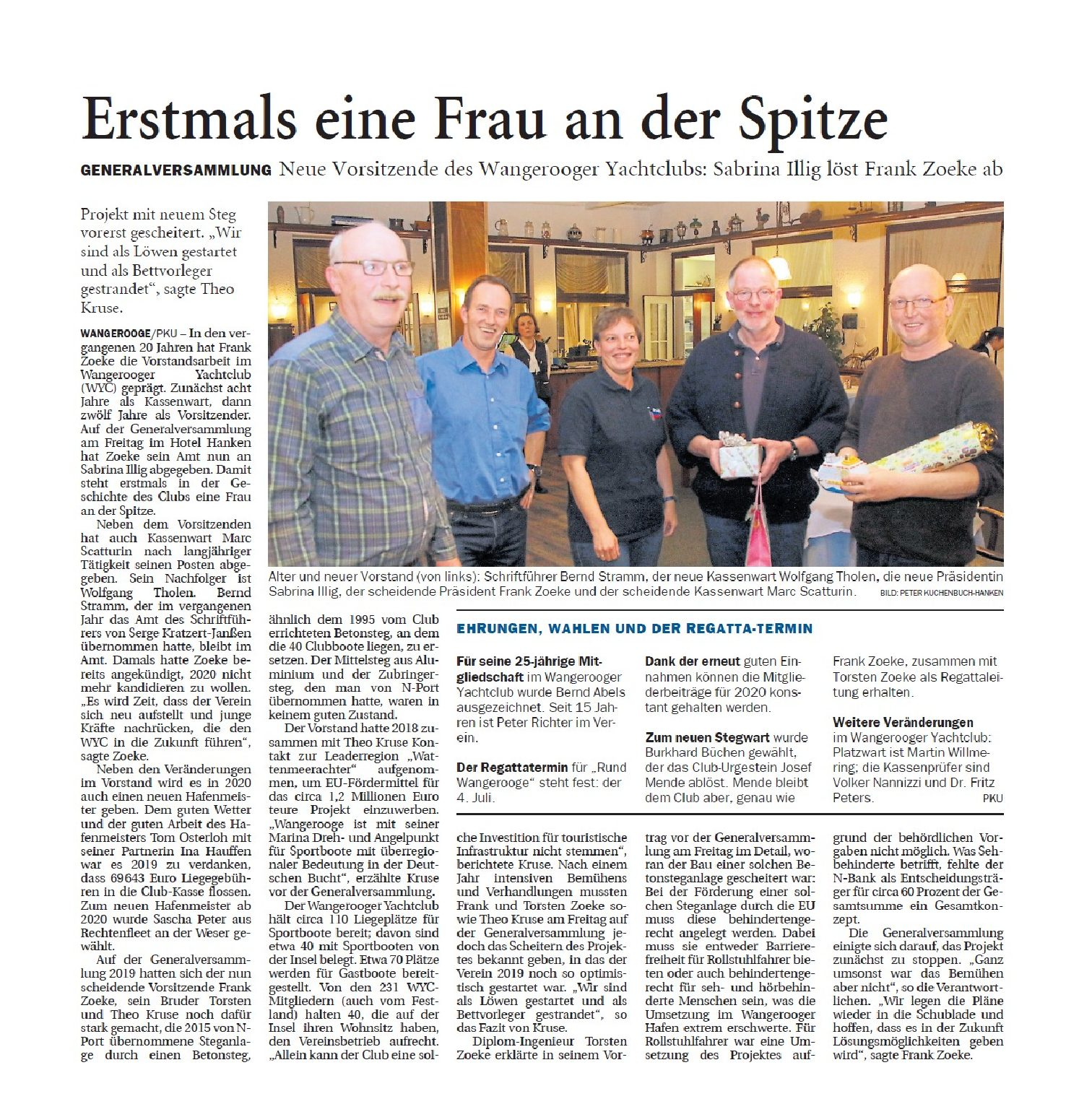 Jeversches Wochenblatt  21.01.2020