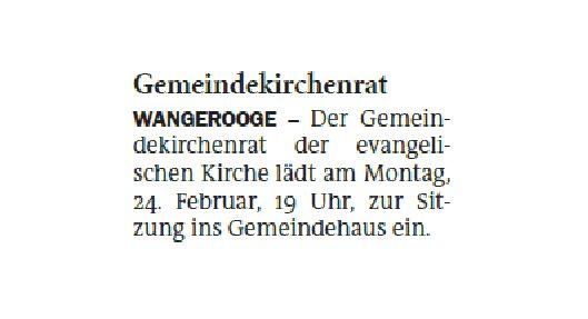 Jeversches Wochenblatt 17.02.2020