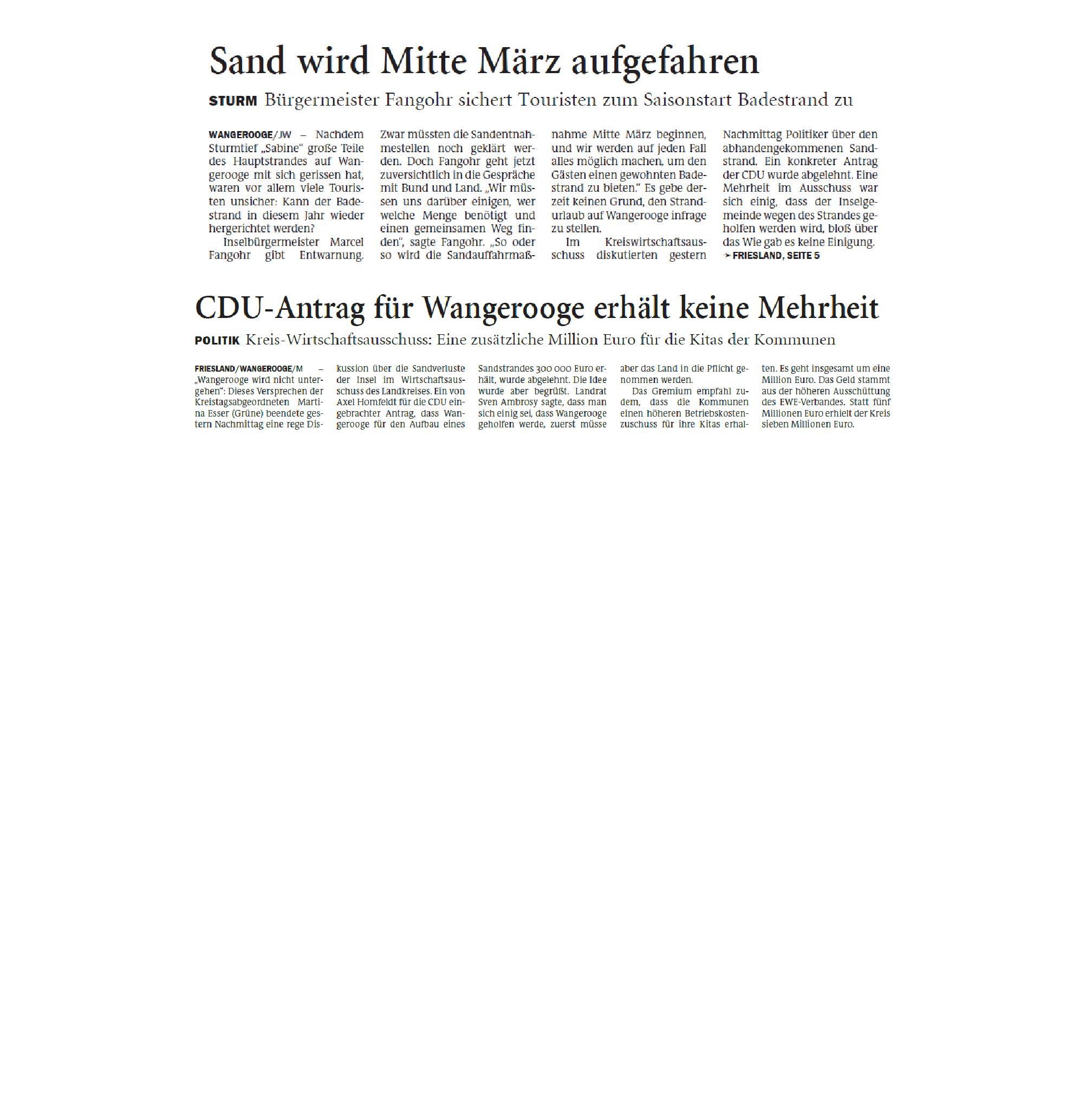 Jeversches Wochenblatt 18.02.2020