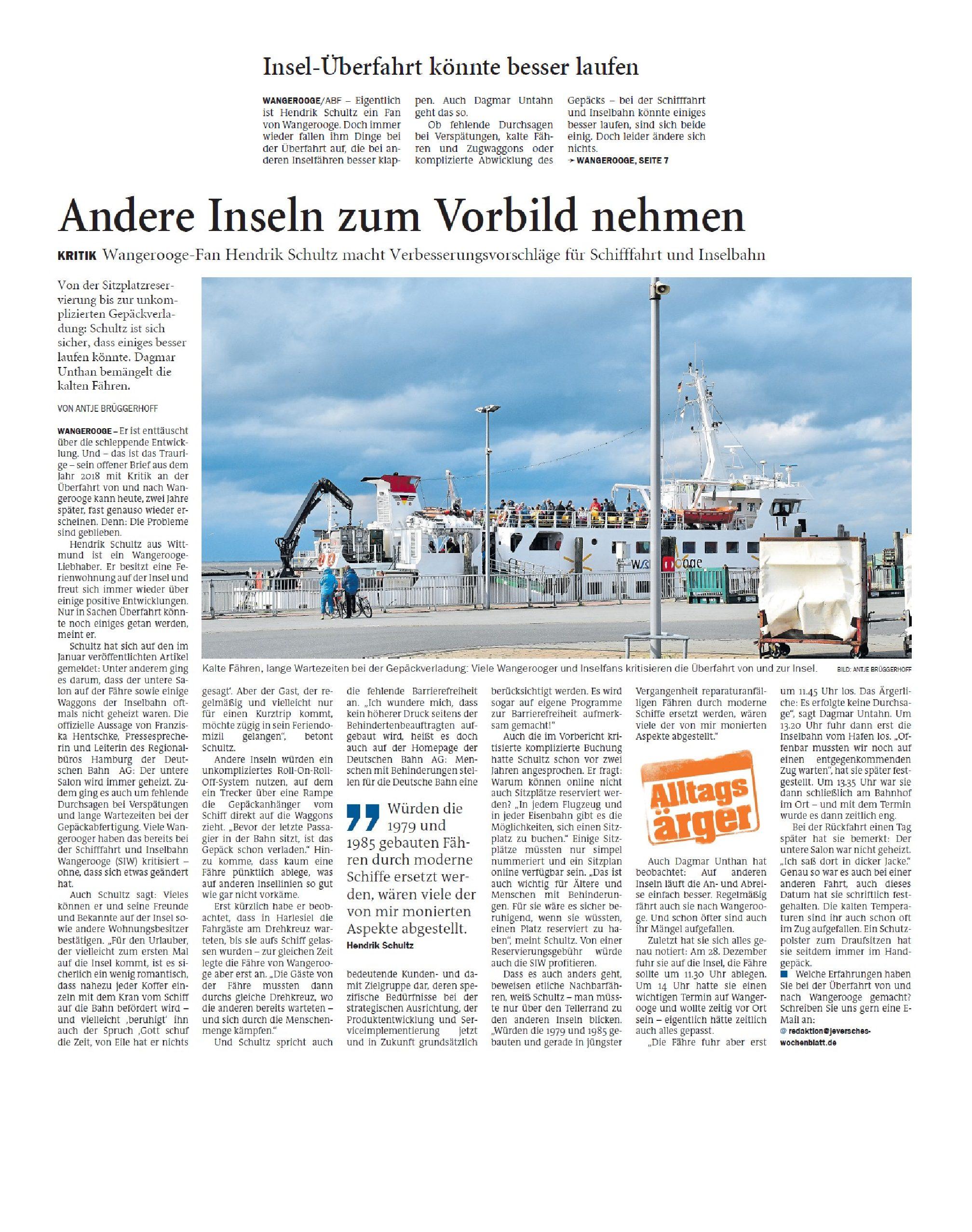Jeversches Wochenblatt 19.02.2020