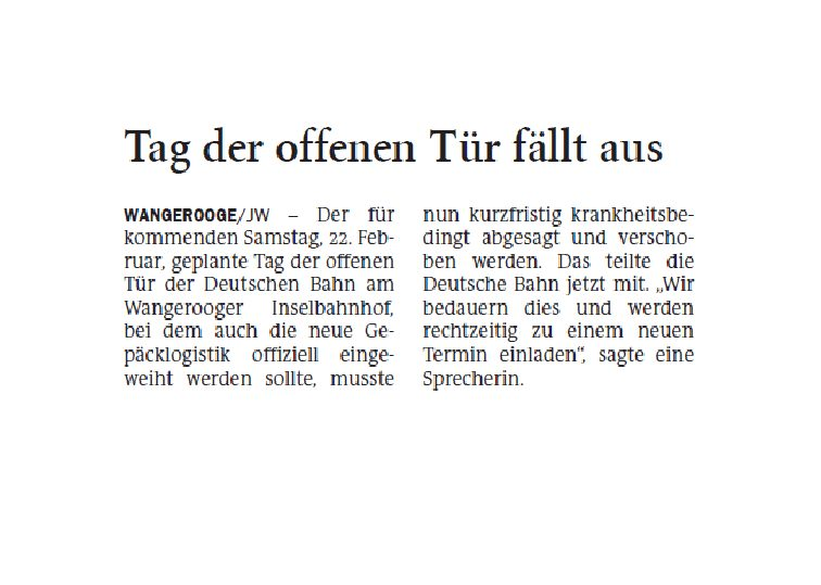 Jeversches Wochenblatt 20.02.2020 III
