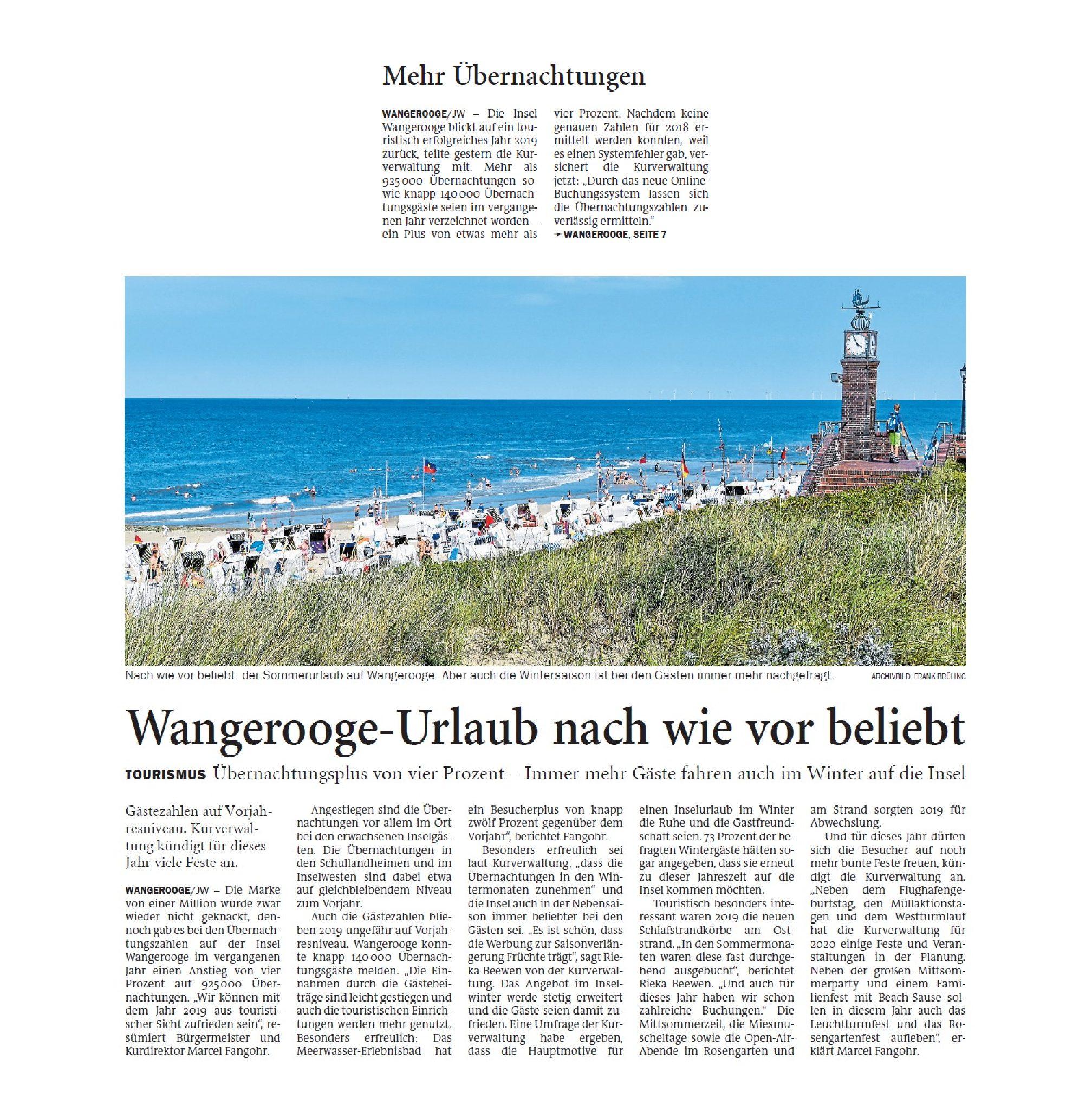 Jeversches Wochenblatt 20.02.2020