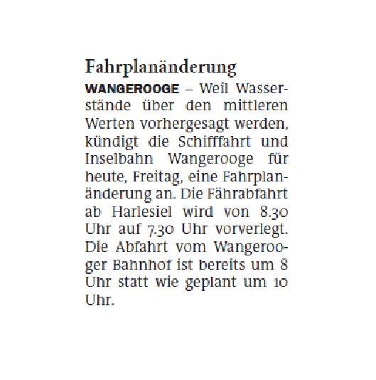 Jeversches Wochenblatt 21.02.2020