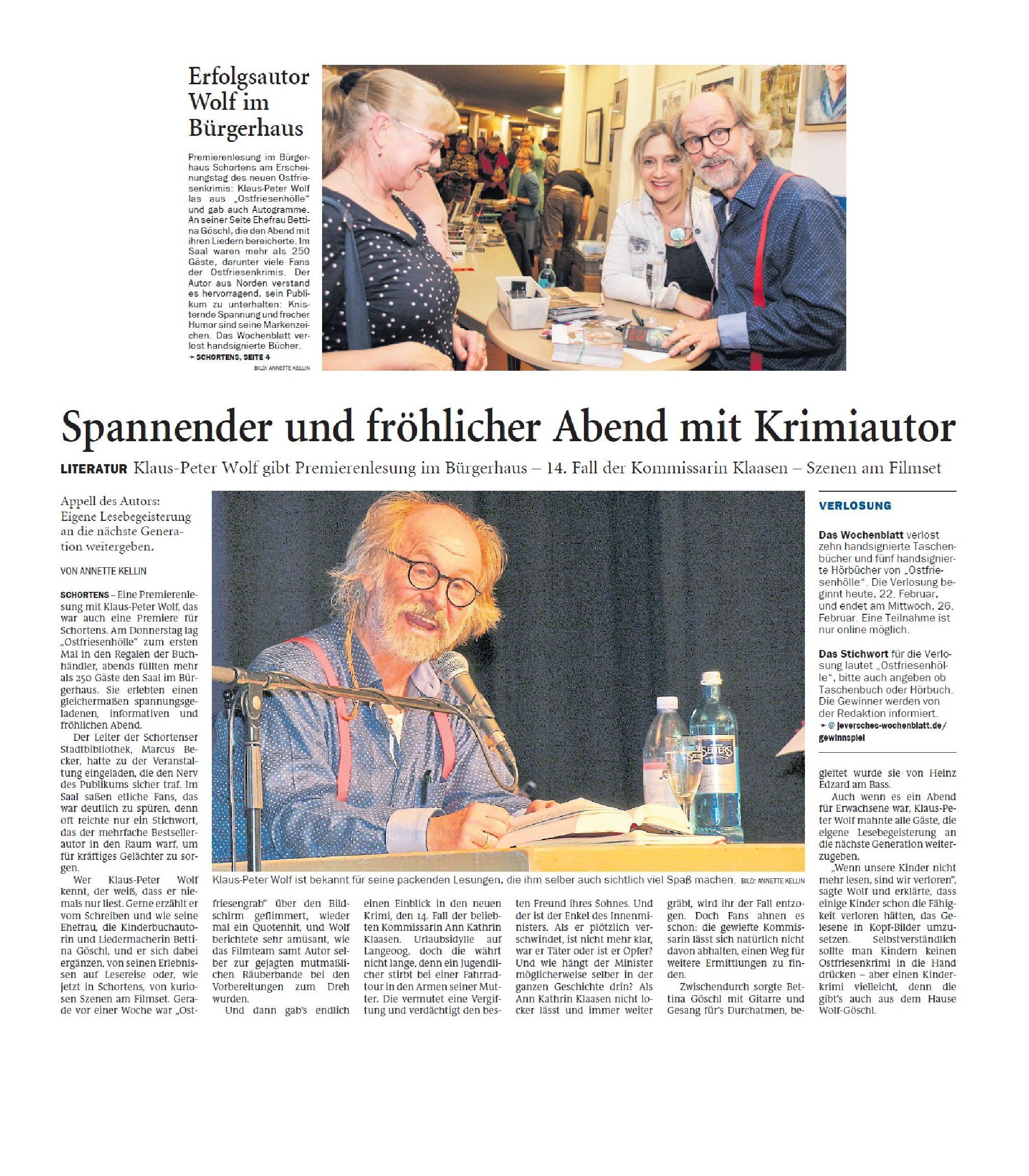 Jeversches Wochenblatt 22.02.2020