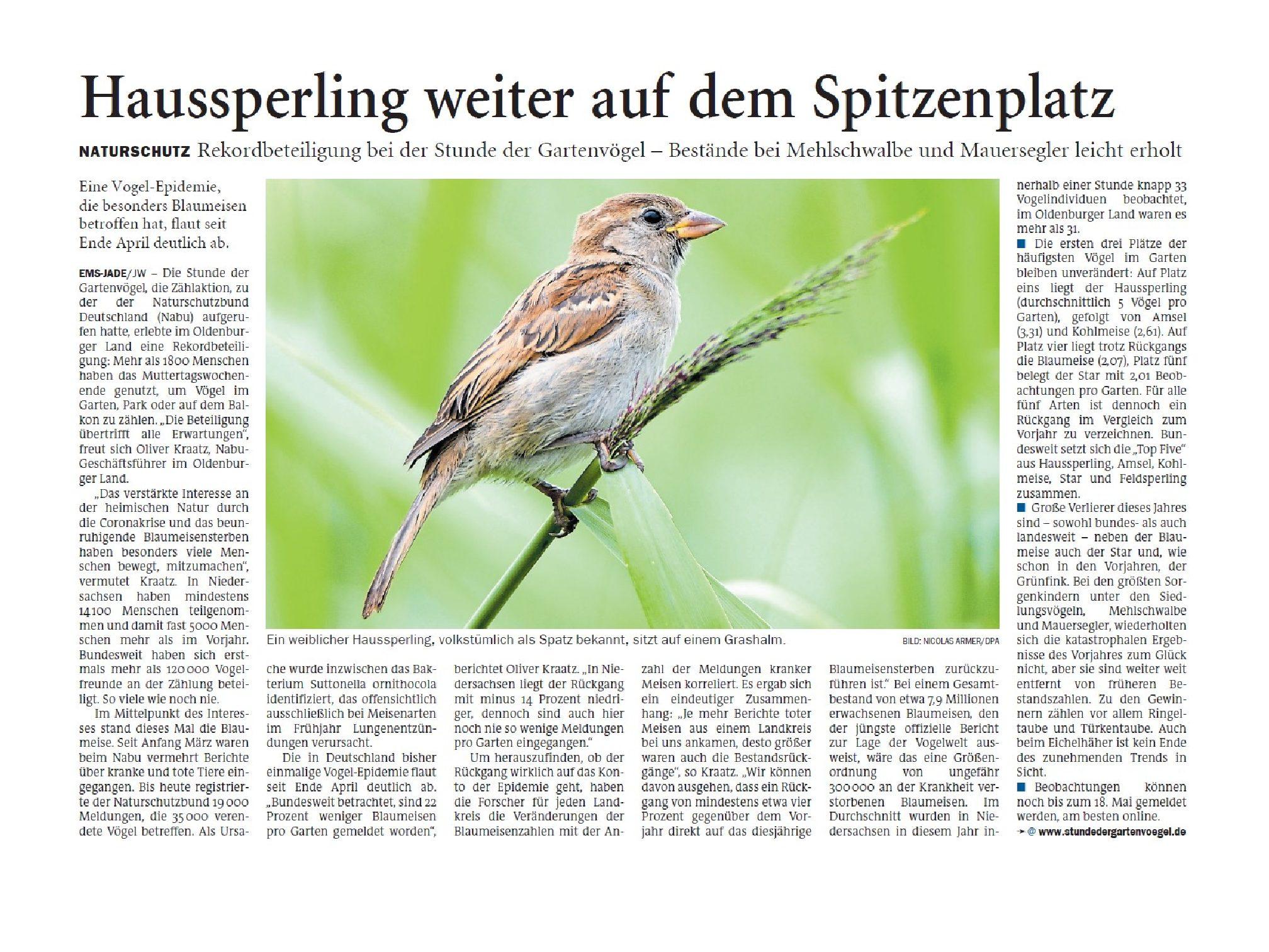 Jeversches Wochenblatt 14.05.2020 IV