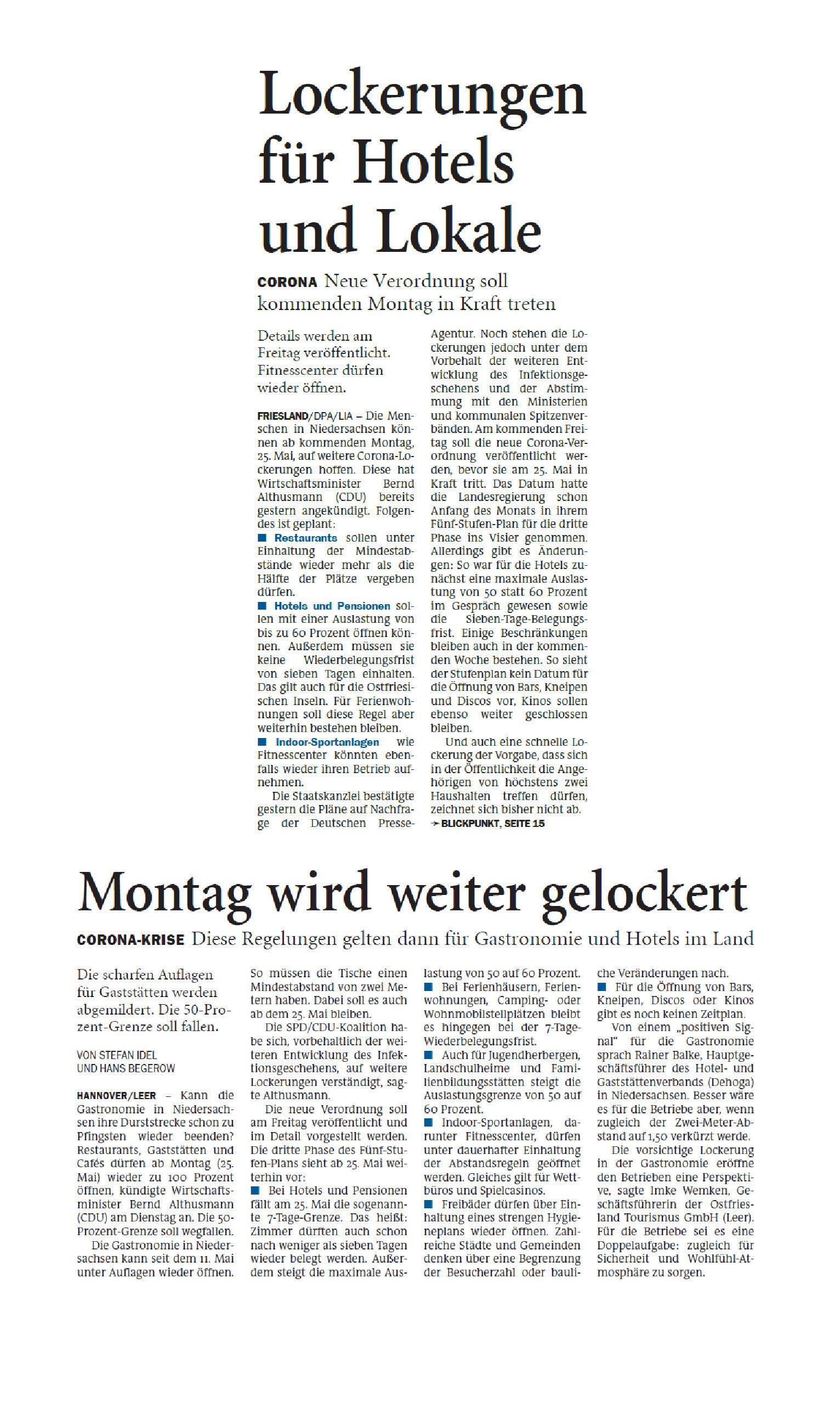 Jeversches Wochenblatt 20.05.2020 III