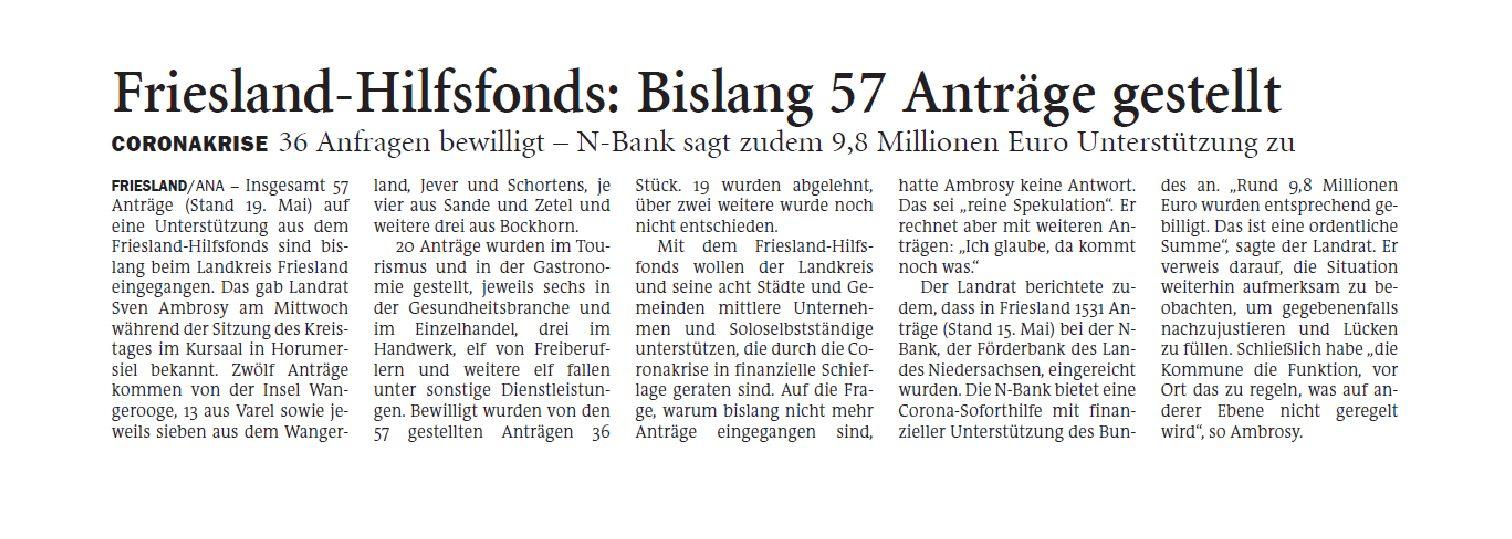 Jeversches Wochenblatt 22.05.2020 II