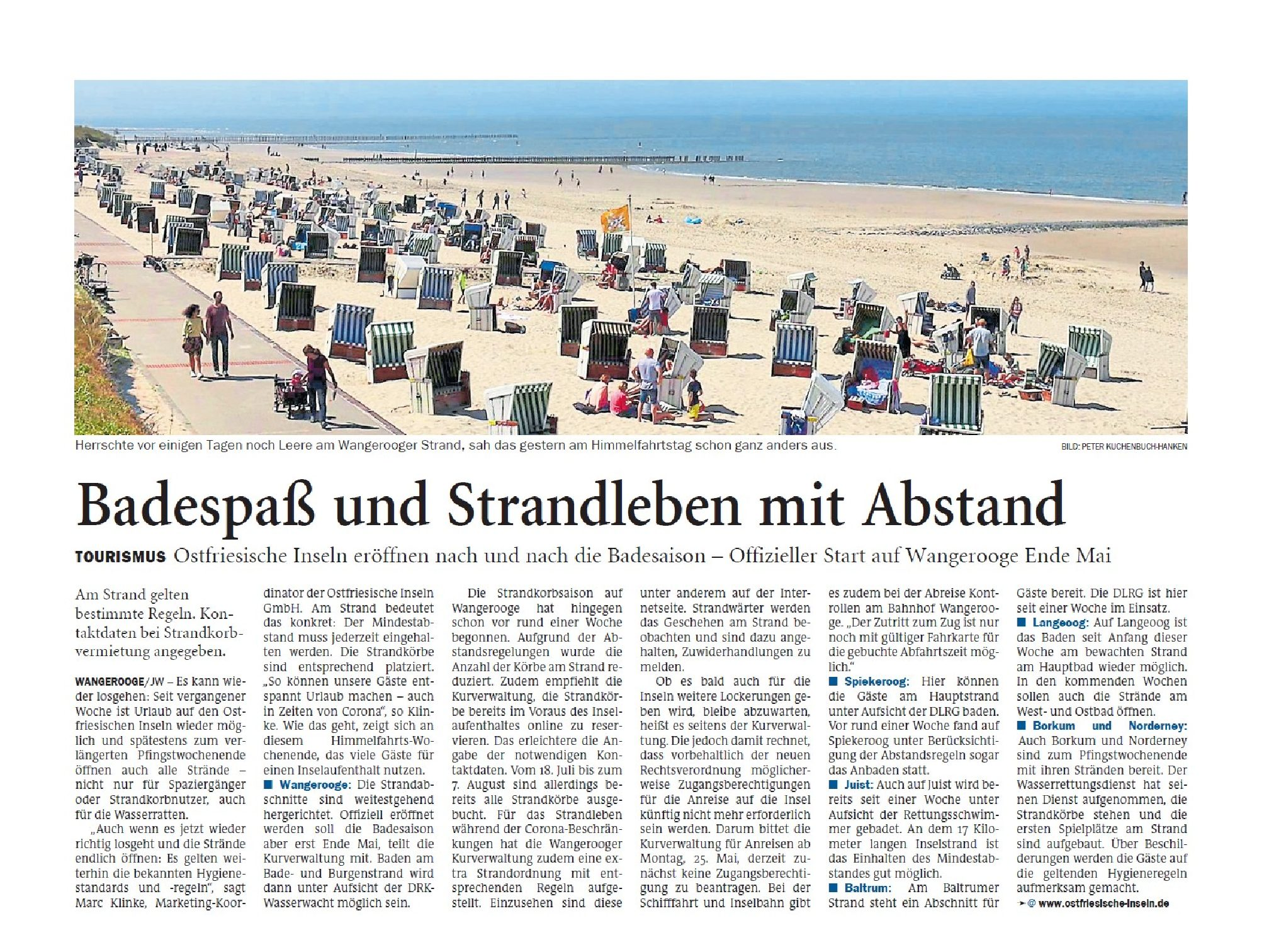 Jeversches Wochenblatt 22.05.2020