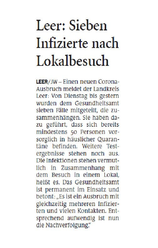 Jeversches Wochenblatt 23.05.2020