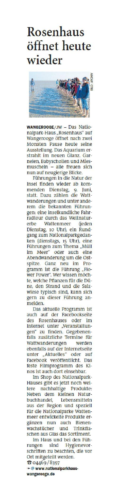 Jeversches Wochenblatt 04.06.2020