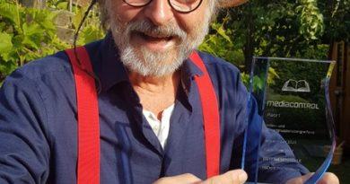 "Media Control Award für Klaus-Peter Wolfs Roman ""Ostfriesenhölle"""