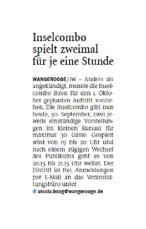 Jeversches Wochenblatt 30.09.2020 IV