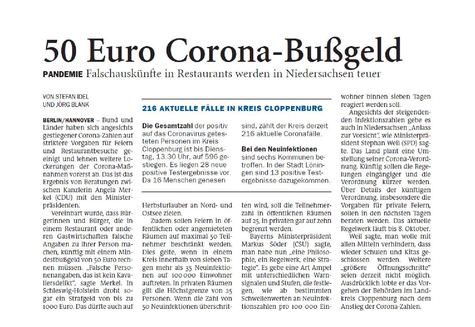 Jeversches Wochenblatt 30.09.2020 VI