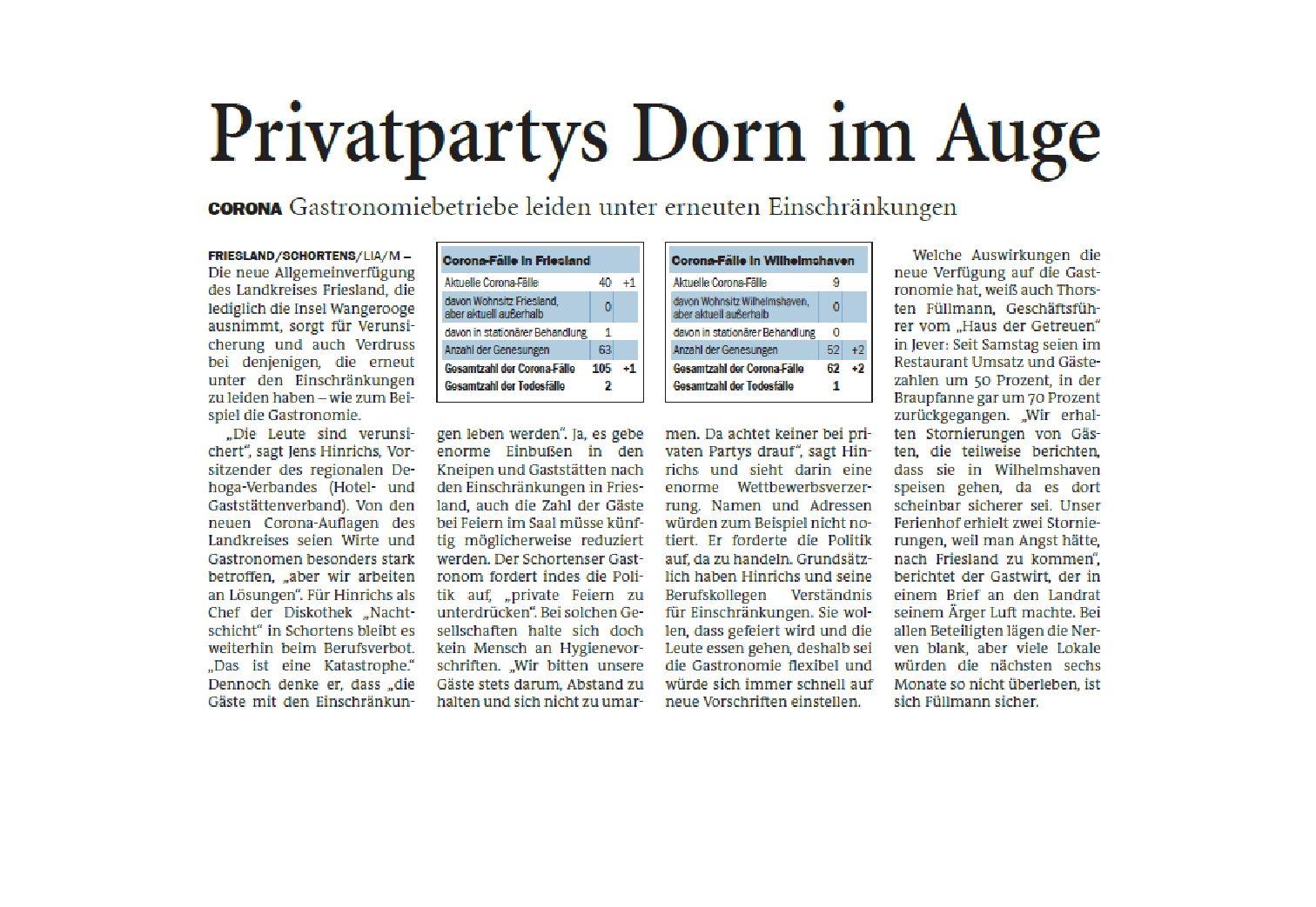 Jeversches Wochenblatt 30.09.2020