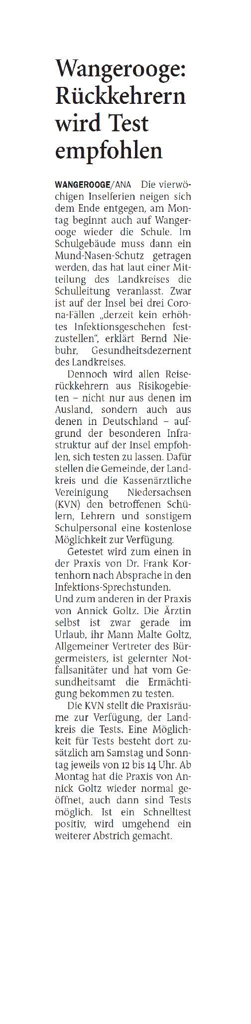 Jeversches Wochenblatt 28.10.2020 III