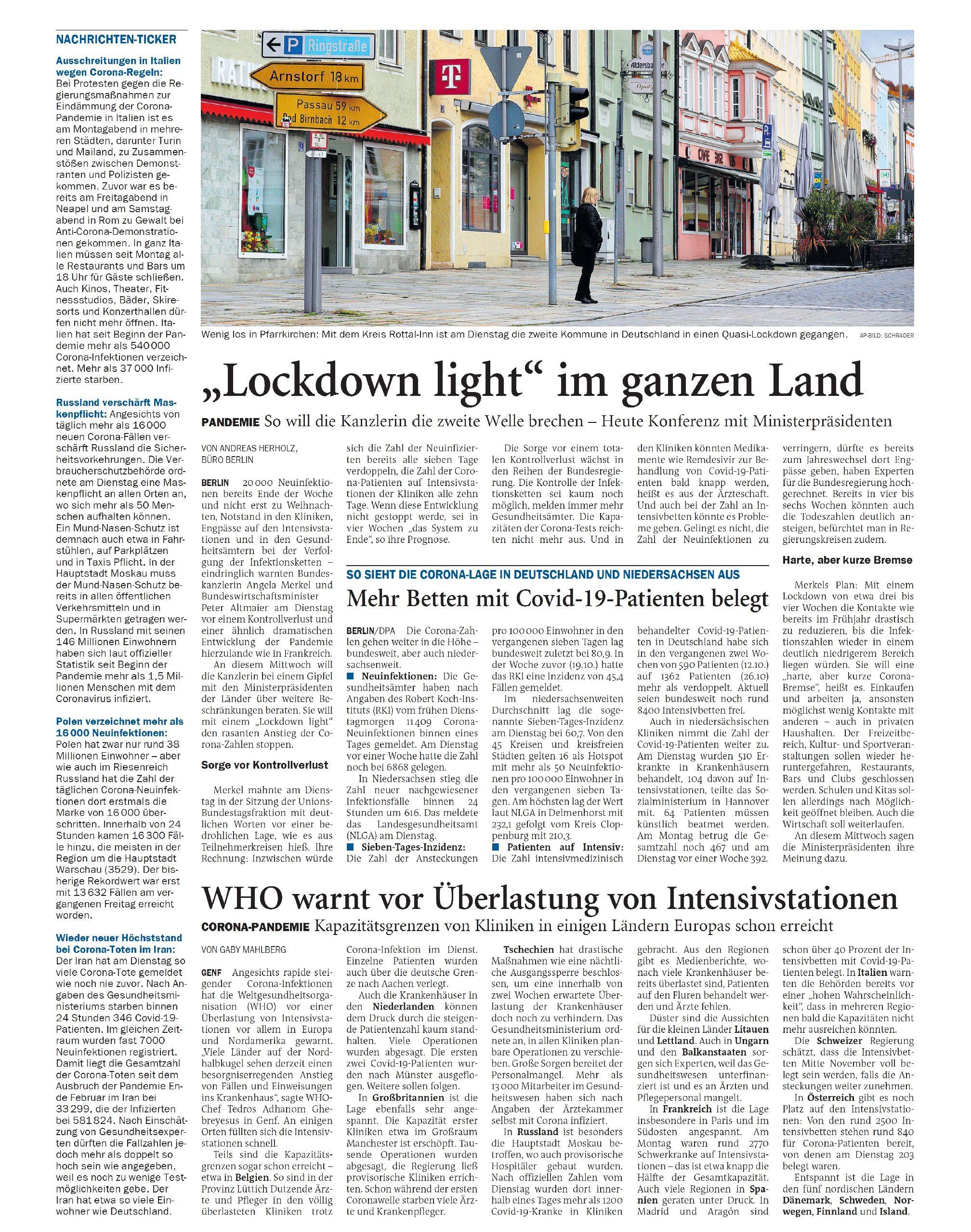 Jeversches Wochenblatt 28.10.2020 V