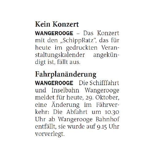 Jeversches Wochenblatt 29.10.2020 II