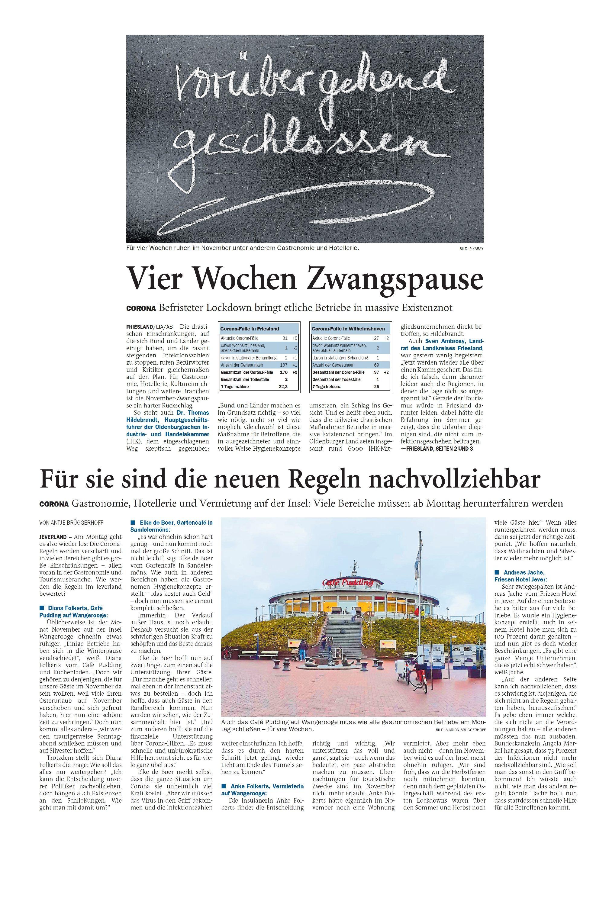 Jeversches Wochenblatt 30.10.2020 II