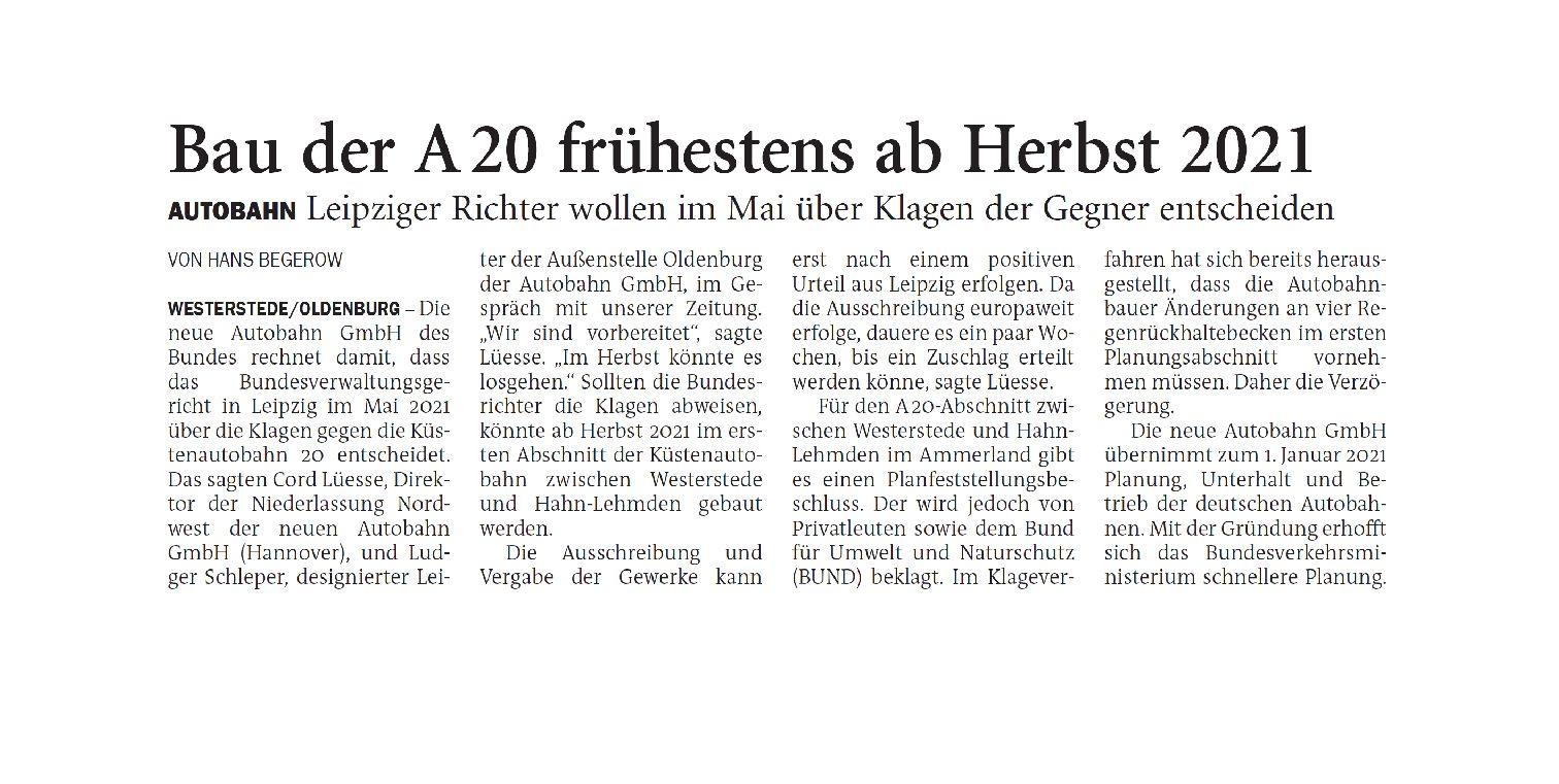 Jeversches Wochenblatt 19.11.2020 VI