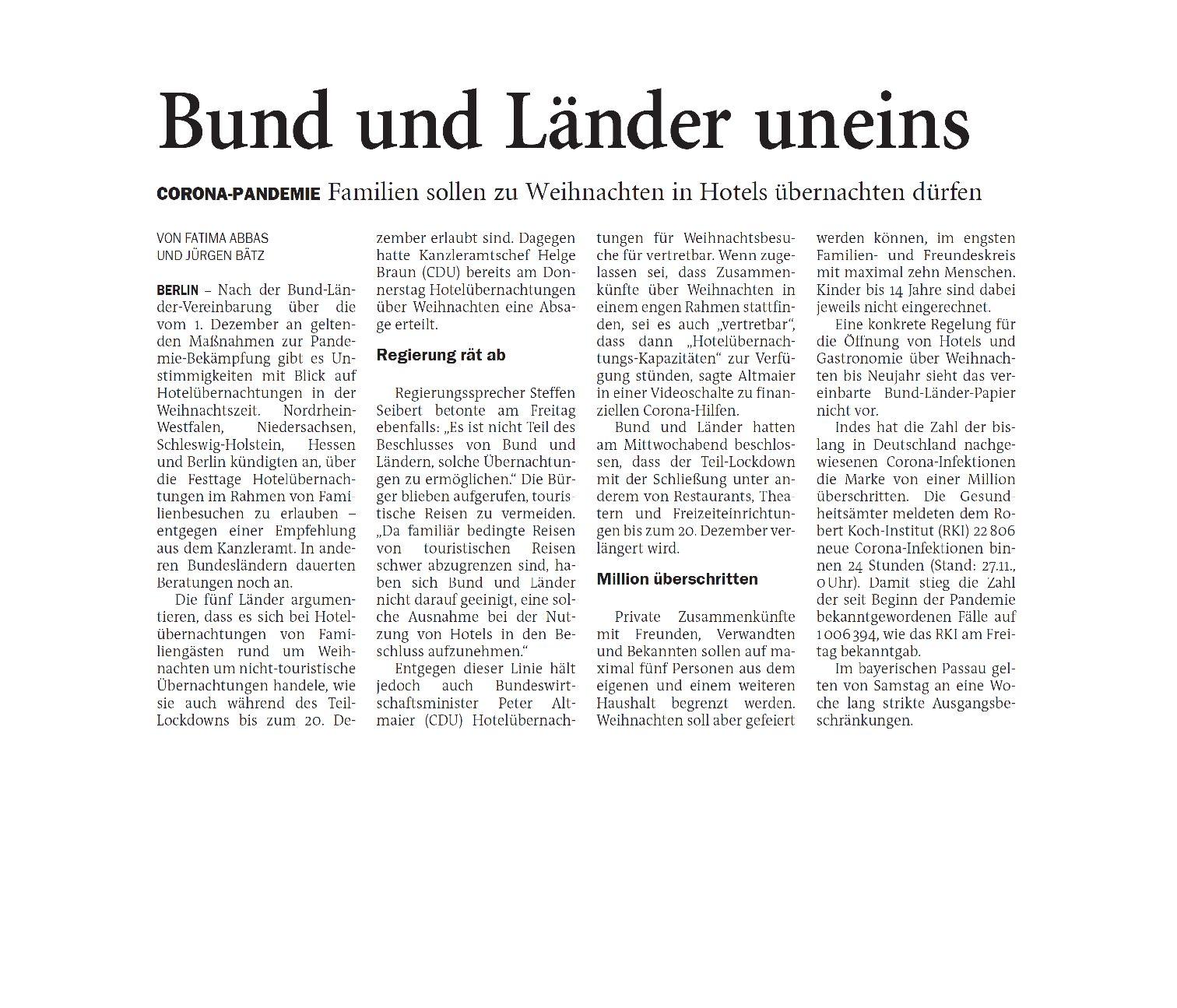 Jeversches Wochenblatt 28.11.2020 V