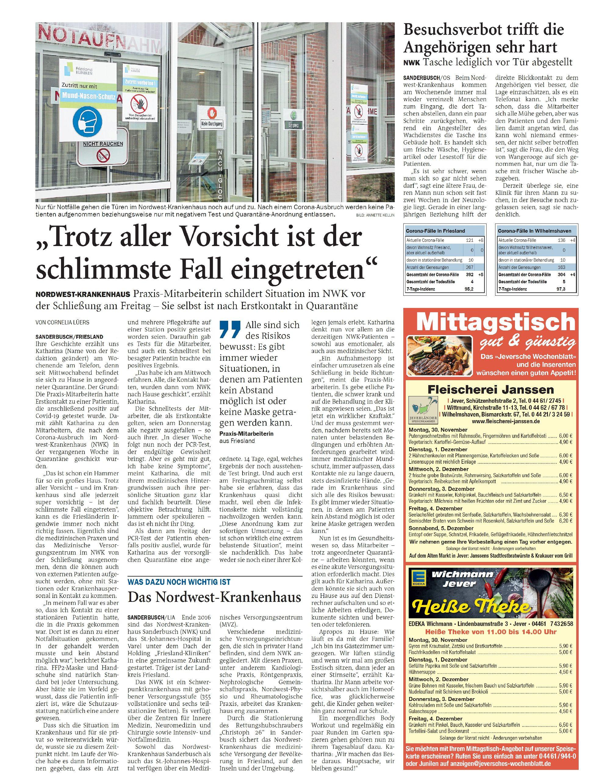 Jeversches Wochenblatt 30.11.2020 II