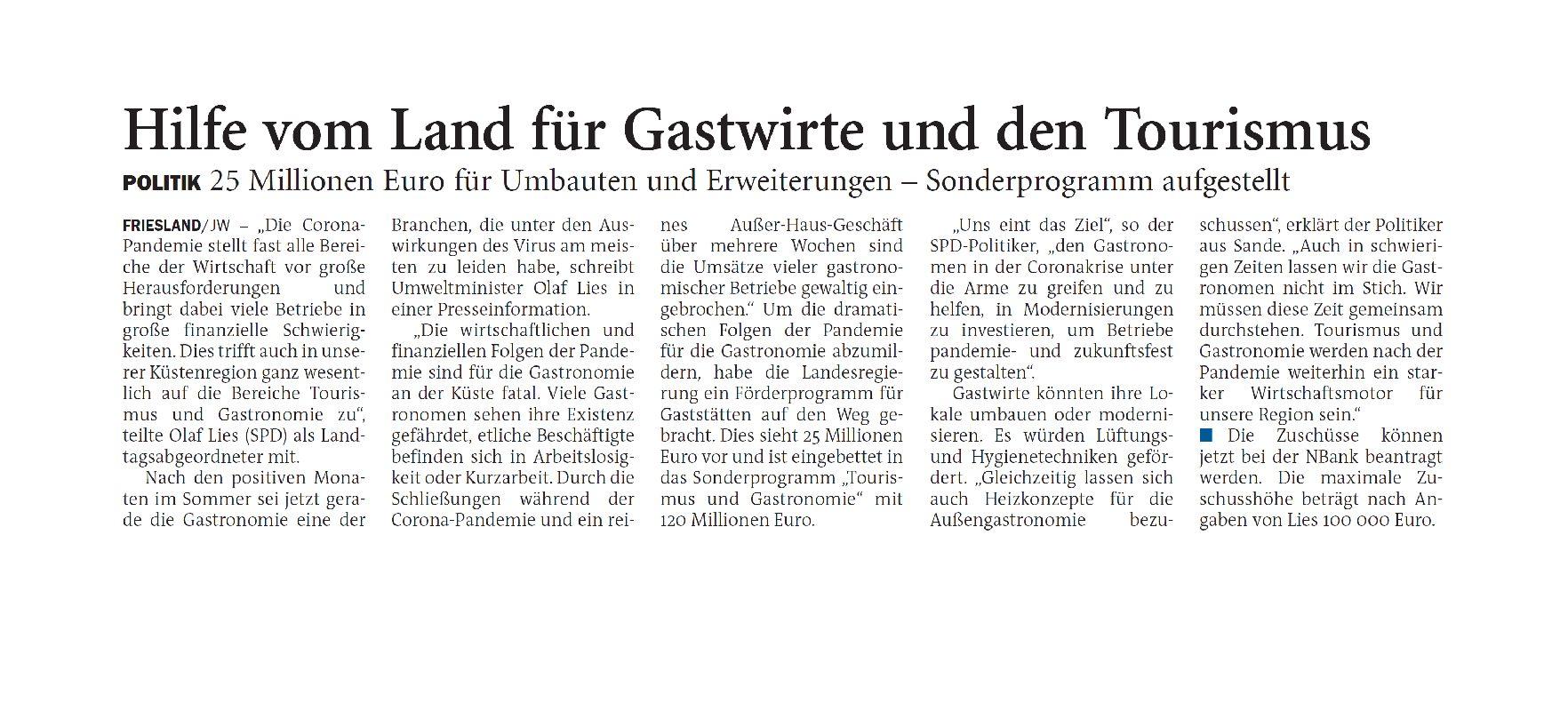 Jeversches Wochenblatt 30.11.2020 III